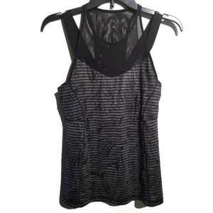 Lululemon tank with shelf bra and mesh